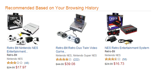 Amazon recommendation based on browsing history