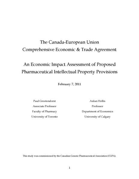impact of ceta on canadian pharmaceutical