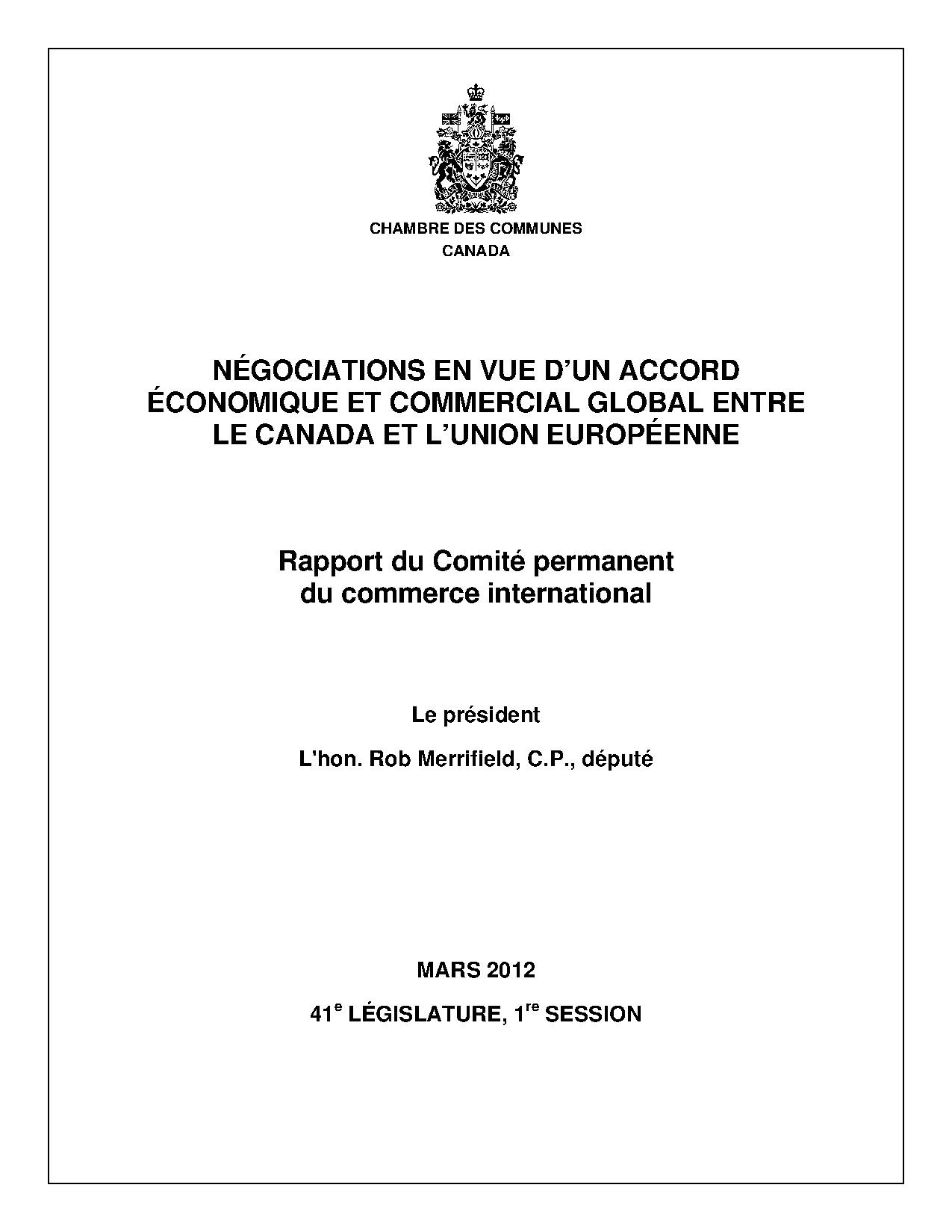 CETA - Rapport du Comité permanent du commerce international - mars 2012.pdf