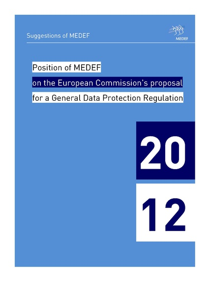 Fichier:Position of the MEDEF on the European Commission s proposal for a General Data Protection Regulation - June 2012.pdf