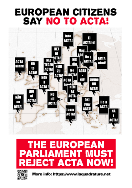 EP must say no to ACTA