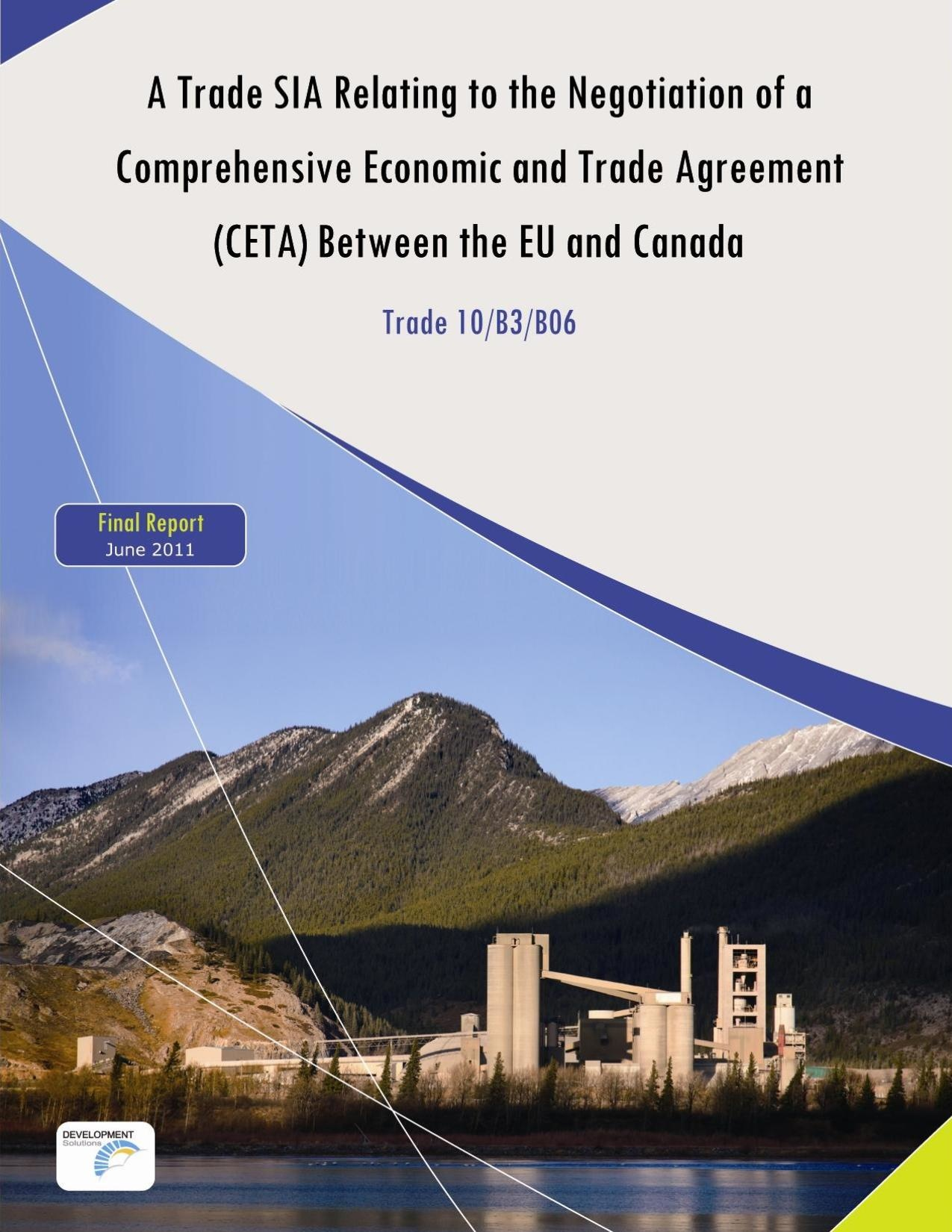 CETA - A Trade SIA Relating to the Negotiation of a CETA Between the EU and Canada.pdf
