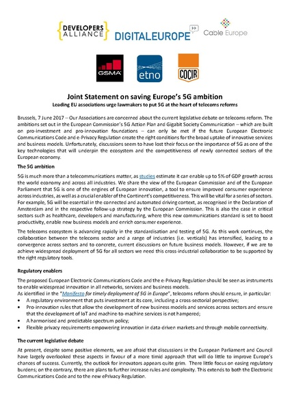 Fichier:Joint Statement SavingEuropes5GAmbition 7.6.2017.pdf